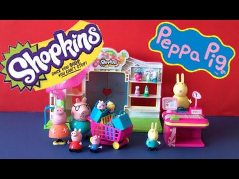 shopkins peppa pig george mummy and daddy pig go. Black Bedroom Furniture Sets. Home Design Ideas