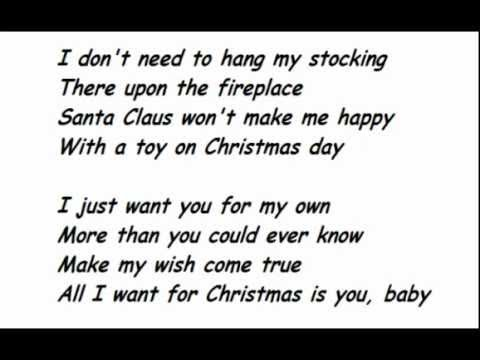 Lady Antebellum All I Want For Christmas Is You Lyrics