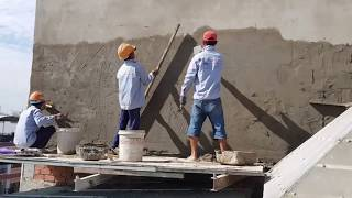 Construction Tips - Fence Wall Construction Render By Sand and Cement