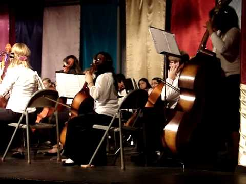 Tefft Middle School Orchestra performs Spring Breezes arr. Richard Meyer