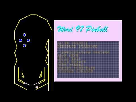 Word 97 SR-1 Easter Egg - Pinball - YouTube
