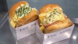 SNS화제 '에그 드랍' 가장 인기있는 메뉴 2종! / 'EGG DROP' Sandwich /Korean Street Food