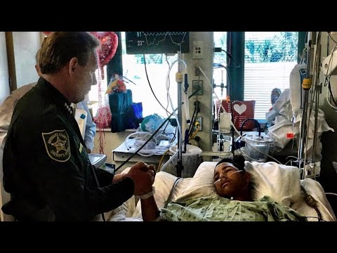 Hero Teen Who Used Body to Shield Classmates Gets Hospital Visit from Sheriff