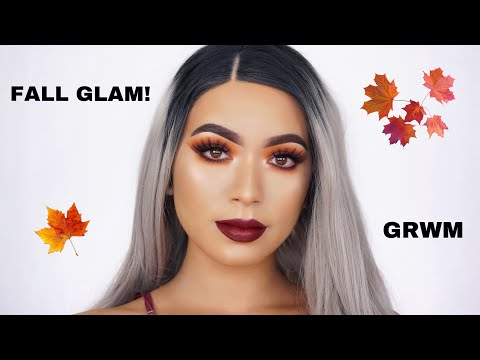 FALL GLAM Makeup Tutorial | Smokey Eyes & Dark Lips | Jessa Astrid