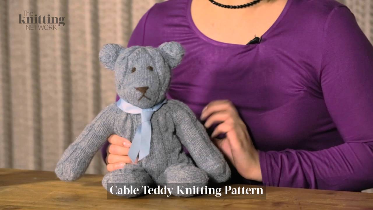 Cable Teddy Knitting Pattern (The Knitting Network WTD022) - YouTube