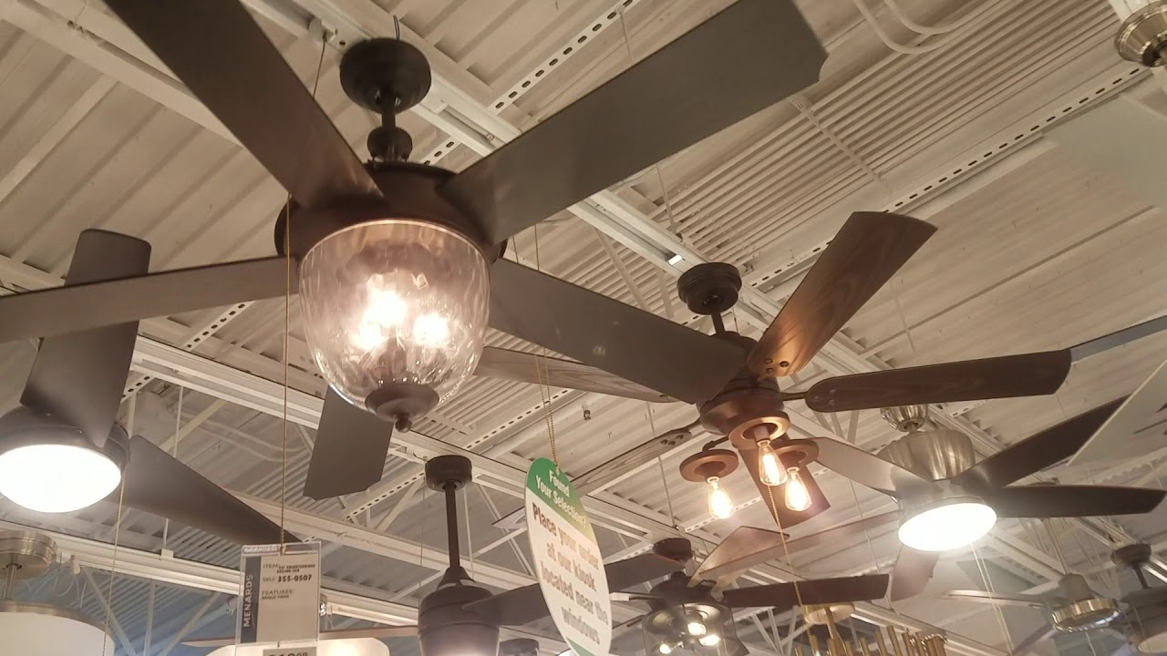 video tour of menards ceiling fan lighting department including showroom special order
