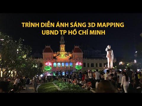 Trình diễn ánh sáng 3D ở toà nhà UNBD thành phố Hồ Chí Minh   ZaiTri