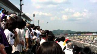 2010 INDY JAPAN 300mile 自衛隊F2戦闘機 デモ飛行