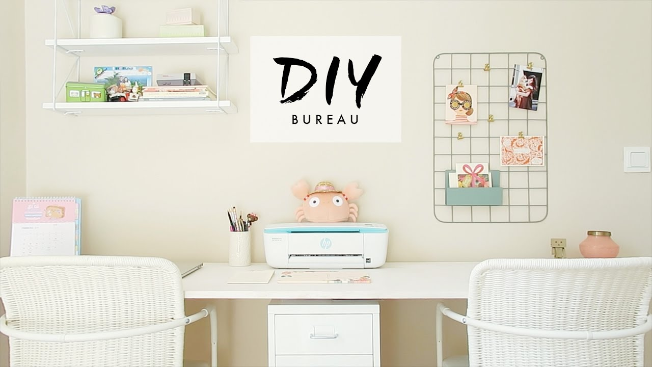 Diy fais ton bureau pinterest youtube for Bureau youtube