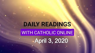 Gambar cover Daily Reading for Friday, April 3rd, 2020 HD