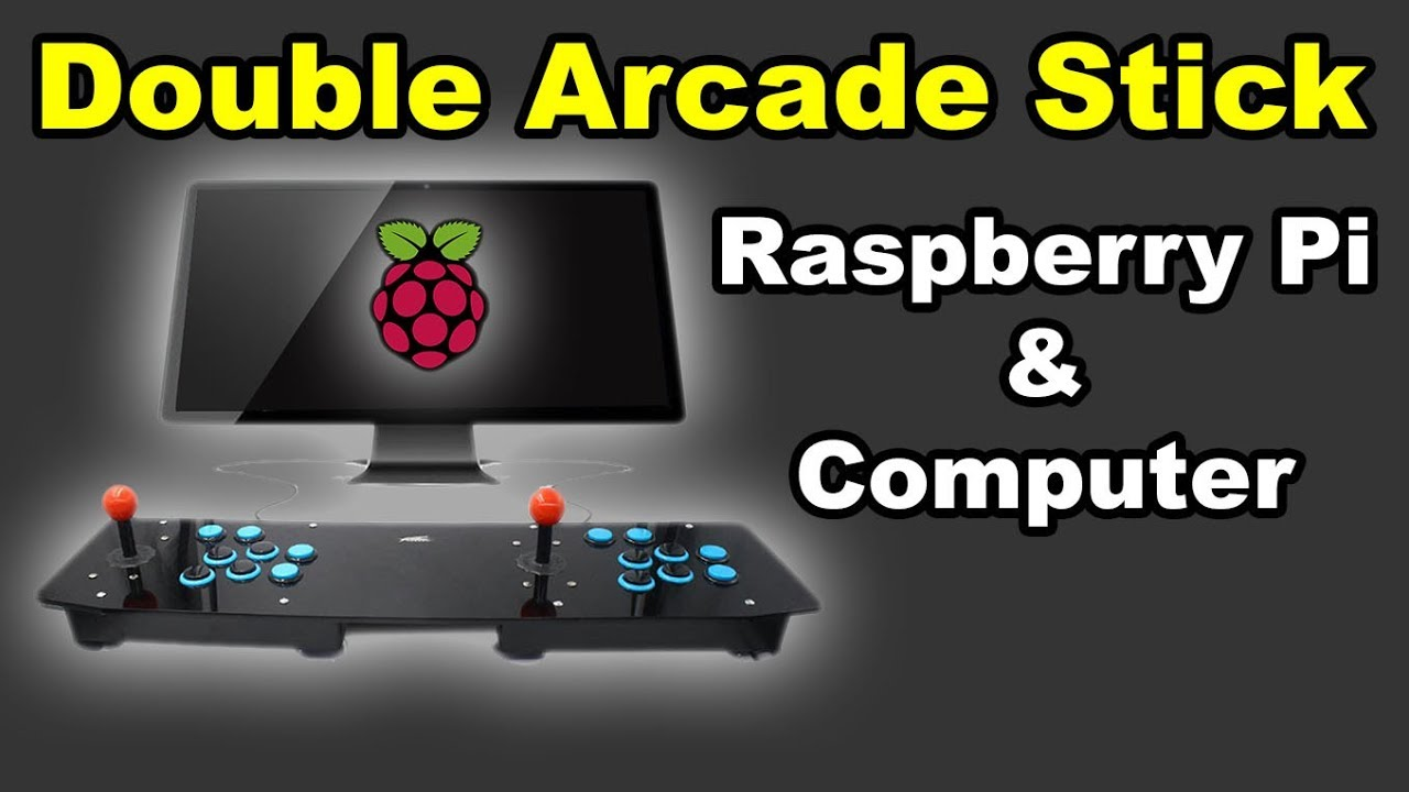 ✅ Double Arcade Stick Controller Acrylic for Raspberry Pi Android PC DIY