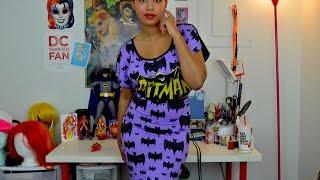 batman nightshirt to retro pencil dress D.I.Y!