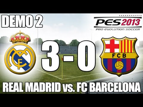 PES 2013 Gameplay: Real Madrid 3-0 FC Barcelona [360/PC/PS3]
