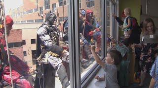 Batman, Superman and The Flash Unite to Make Kids Smile at Iowa Hospital