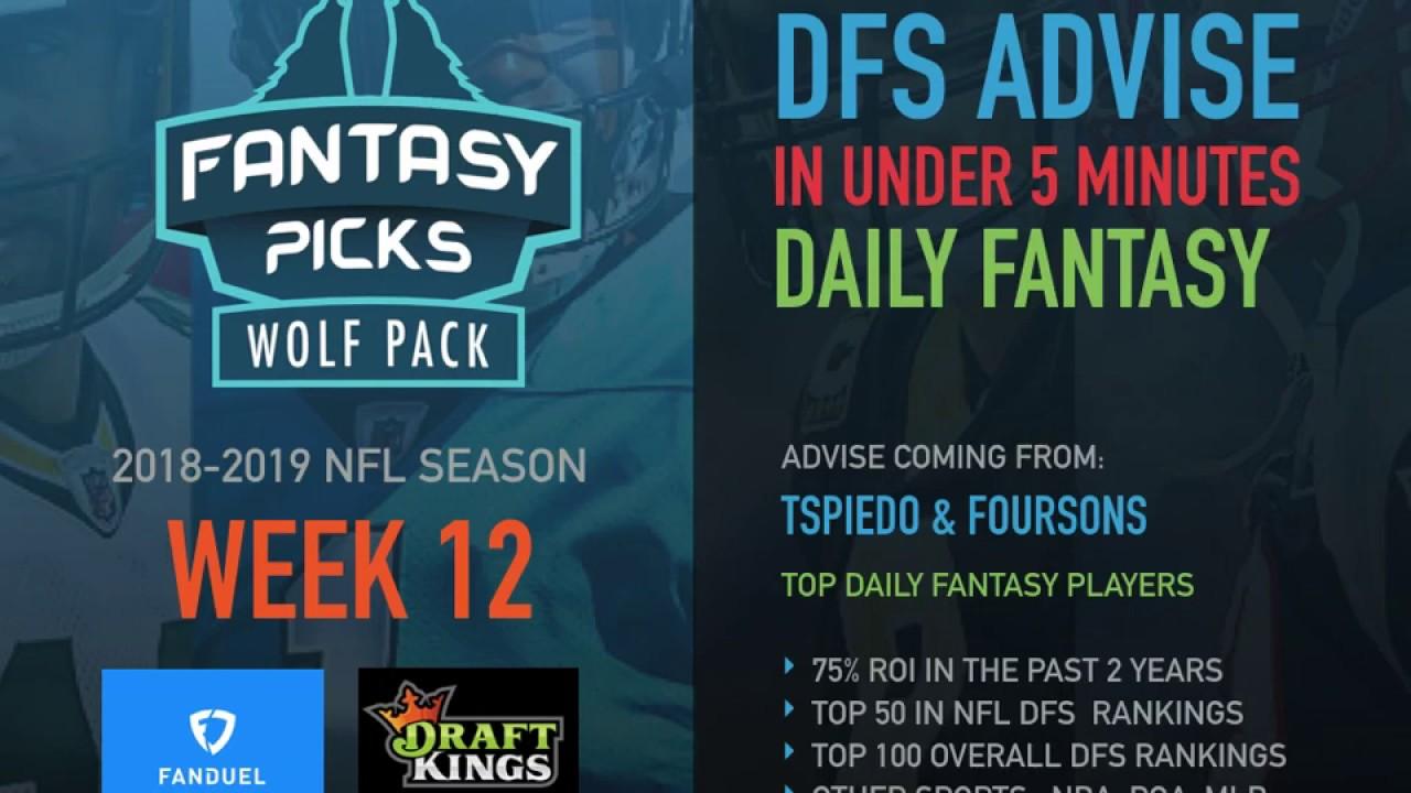 Nfl Fantasy Football Week 12 2018 Draftkings Fanduel