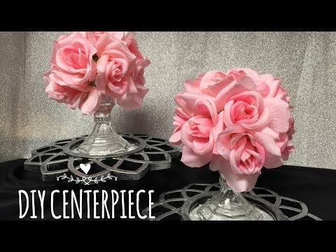 DIY Floral Center Piece Using Dollar Tree Supplies EASY!
