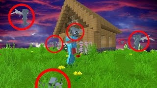 MAKING PLAYER THINK HOUSE IS HAUNTED! (Minecraft Trolling)