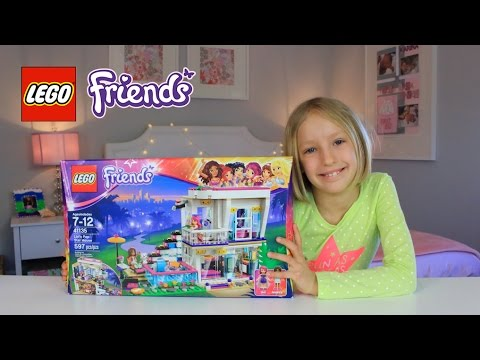 Lego Friends Livis Pop Star House Unboxing Building Youtube