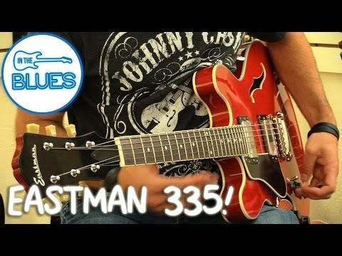 Eastman T386 Cherry Red ES335 Style Guitar - Jerry's Lefty Guitars