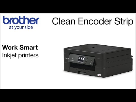 Cleaning the encoder strip – Brother Work Smart series