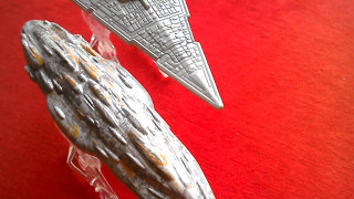 2-Pack NEW Hot Wheels Star Wars Starship Star Destroyer vs Mon Calamari Cruiser