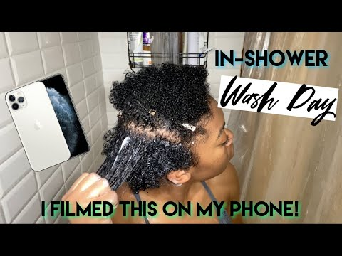 Wash Day On My iPhone 11 Pro Inside my shower  Testing The New Camera Quality
