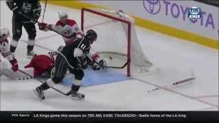 Anze Kopitar goal. Carolina Hurricanes vs Los Angeles Kings 10/23/2015