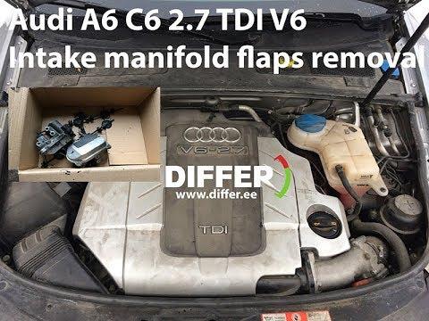 Audi A6 C6 27 (30) TDI V6 INTAKE MANIFOLD FLAPS REMOVAL - YouTube