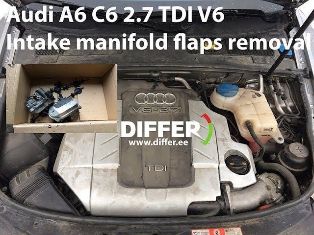Audi A6 C6 2.7 (3.0) TDI V6 INTAKE MANIFOLD FLAPS REMOVAL