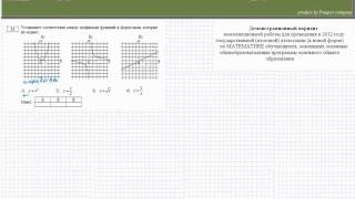 Задача на соответствие между графиками функций и формулами