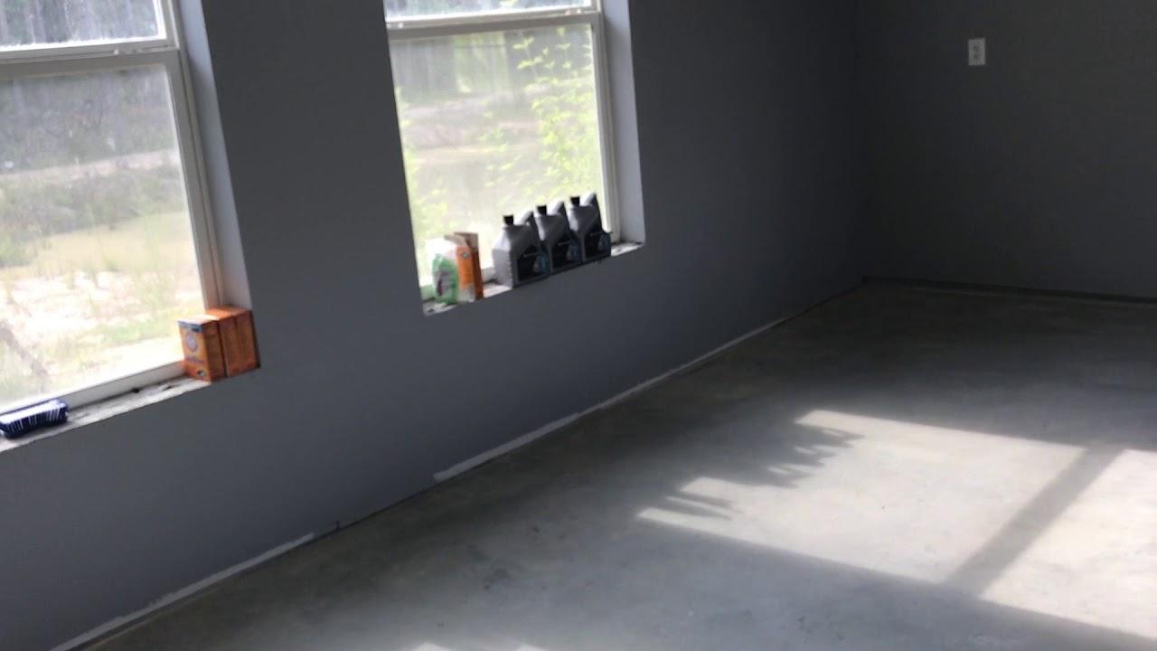 Water Sealing The Concrete Garage Floor