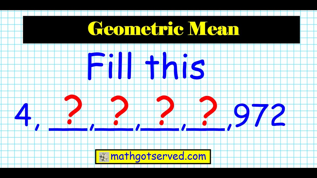 how to find the nth term of a geometric mean sequence algebra 2 honors  common core ratio u9l4