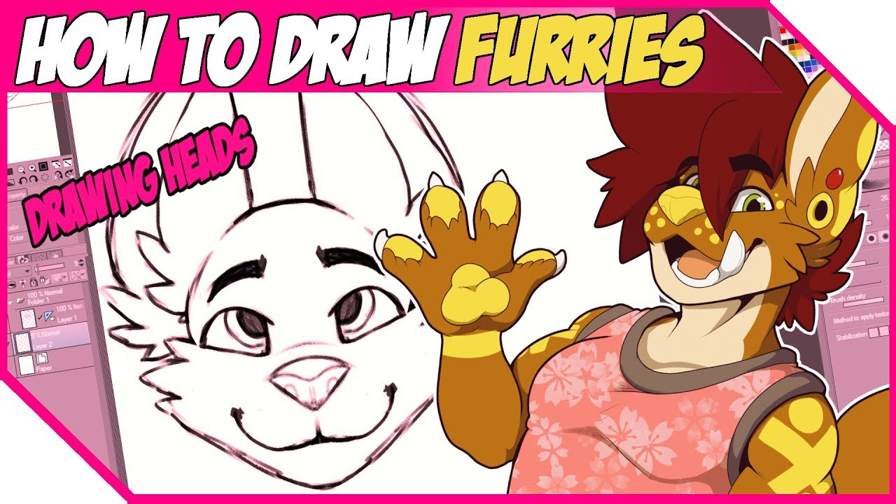 How To Draw Furries Head Tutorial Youtube
