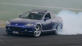 Mazda RX8 turbo ~ burnout, drag & dyno