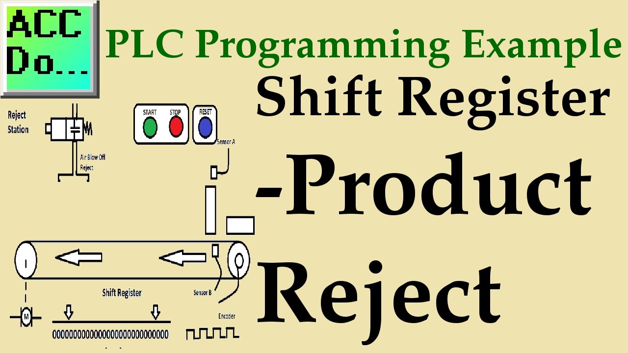 PLC Programming Example – Shift Register (Conveyor Reject