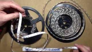 LED tape voltage drop on long runs.