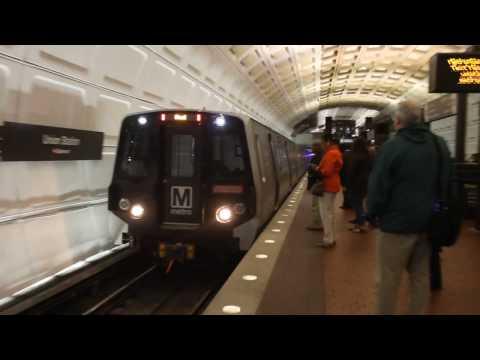 WMATA Metro Rail Red line Train of 7000's enter Union Station