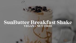 SunButter Breakfast Shake // dairy-free + nut-free