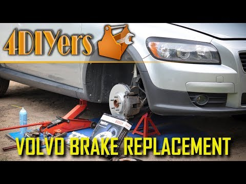 How to Replace the Front Brakes on a Volvo C30 S40 V50 C70