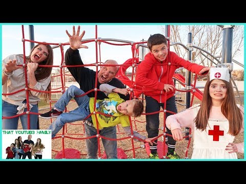 Thumbnail: ZOMBIE INFECTION Tag Game IN REAL LIFE - PLAYGROUND WARS! / That YouTub3 Family
