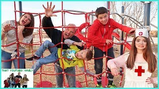 INFECTION Tag Game IN REAL LIFE - PLAYGROUND WARS! / That YouTub3 Family