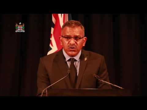 Fijian Tourism Minister opens Tourism Fiji Industry Day.