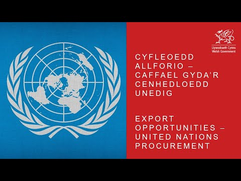 Webinar Export Opportunities – United Nations Procurement