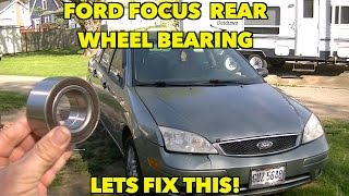 2005 Ford Focus Rear Wheel Bearing replacement. The worst case scenario.