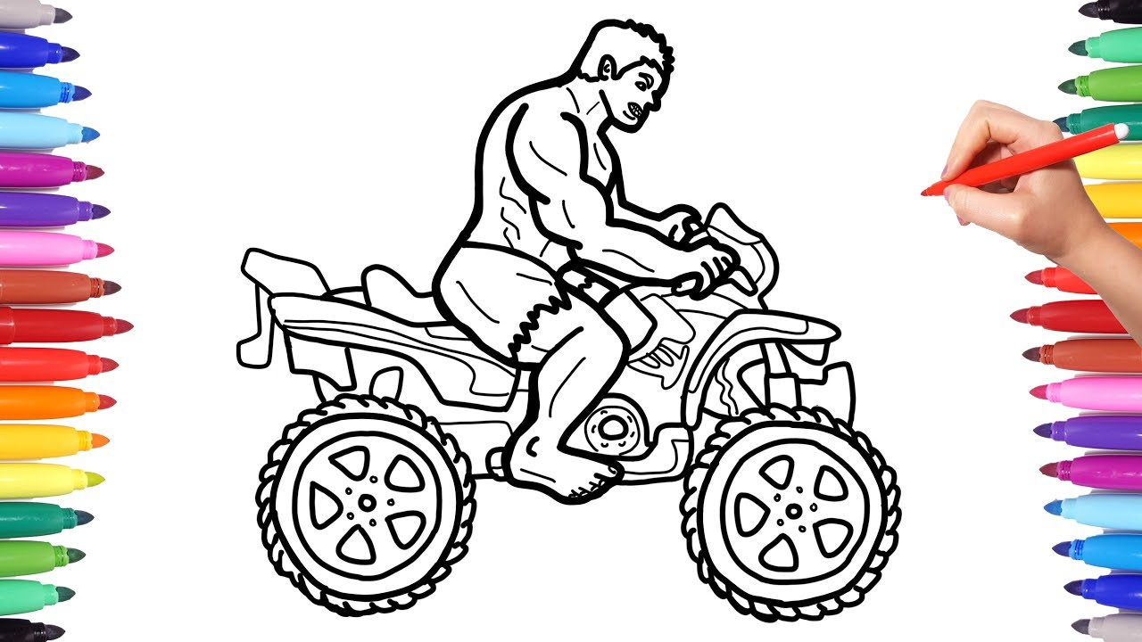 Hulk Motorcycle Coloring Pages Superheroes Motorbike Bike Coloring