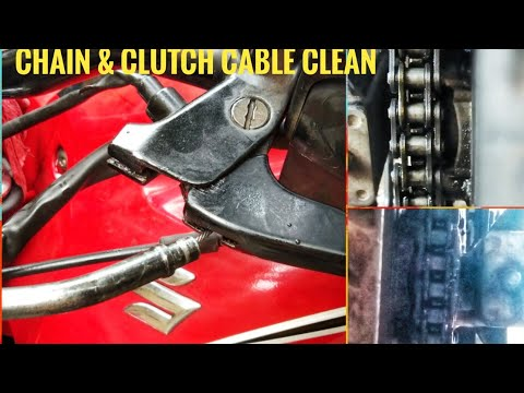 How to clean and lube chain& clutch cable  motorcycle ||home  only 20 /