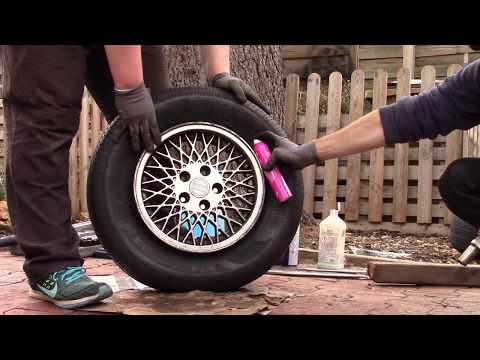 Tire bead seating using propane.