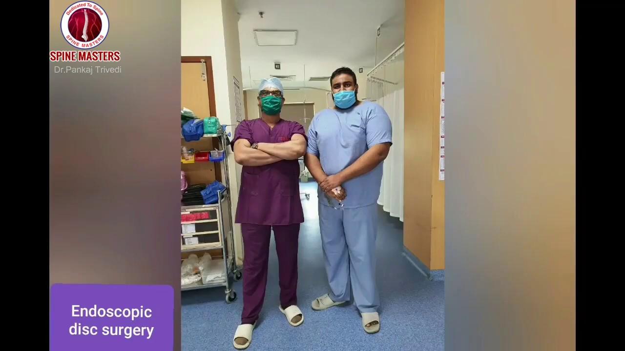 Endoscopic Spine Surgery PELD   Best Spine Surgeon   Dr. Pankaj Trivedi Jalandhar, Punjab India