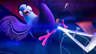 Car Chase Extended Scene - SPIES IN DISGUISE (2019) Movie Clip