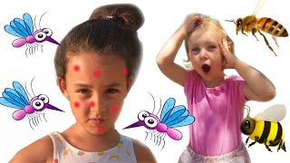 Melania y Laneya vs mosquitoes! Niñas se preparan para ir de Fiesta